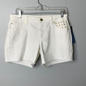 Apt. 9 White Denim Cut Off Shorts